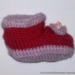 Polacchini rossi e lilla di lana