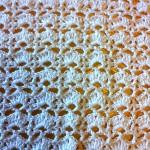 Copertina in cotone bianco per passeggino