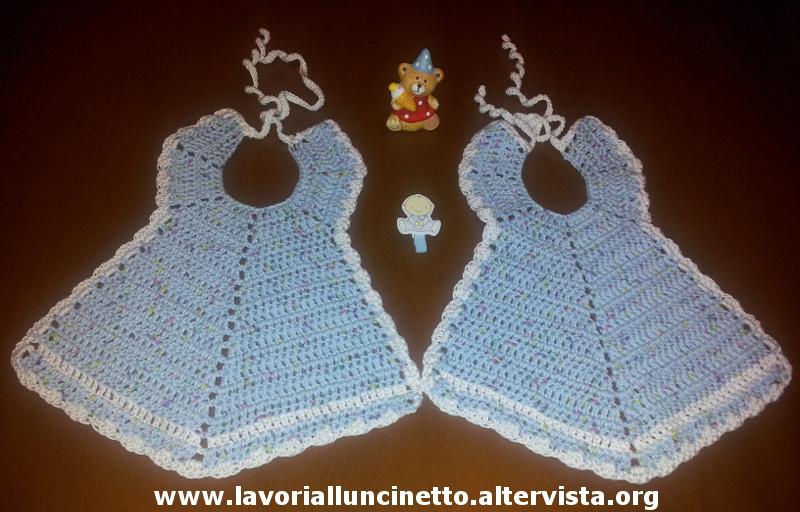 Bavaglino neonato uncinetto tc33 regardsdefemmes for Lavori all uncinetto per altari