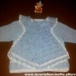 Bavaglino azzurro in cotone