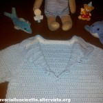 Maglietta azzurra in cotone
